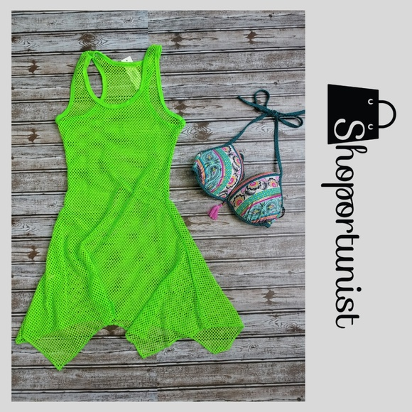 Other - Must Have Lime Green Mesh Cover Up